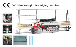 Glass straight-line edging machine